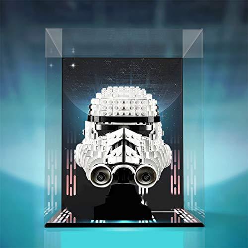 HYZM Carcasa de pantalla para casco Lego Star Wars Stormtrooper de acrílico, compatible con Lego 75276 (solo incluye la caja)