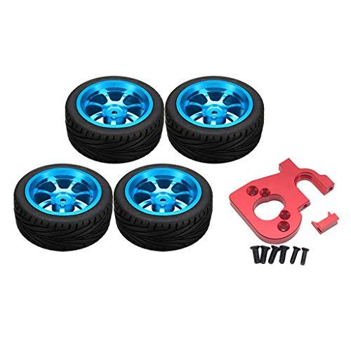 Amuzocity Asiento de Motor de Metal 1/14 con 4 Neumáticos para Reemplazo de Camiones