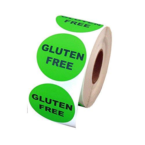 Gluten Free Round Label 1.5' - 500 Labels per roll