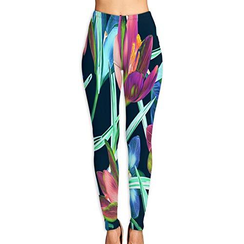 YMWEI Pantalón de Yoga Mujer Papas Fritas australianas, Queso derretido y Tocino para Hornear Alta Cintura Pilates Fitness Leggings para Entrenamiento y Correr-S
