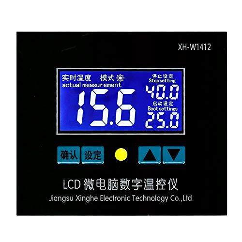 liuchenmaoyi Termostato XH-W1412 24V Microcomputador Termómetro Digital Controlador electrónico de Temperatura Multifuncional Práctico de Alta precisión termostatos para el hogar