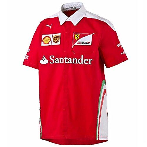 Branded London Scuderia Ferrari Herren SF Team-Polo-Hemd - Rot - XXL