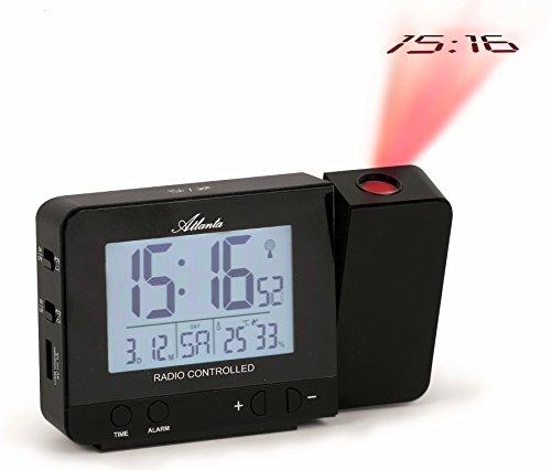 ATLANTA Proyección Reloj Despertador Radio Despertador Digital Temperatura Humedad Fecha Luz Snooze 1884