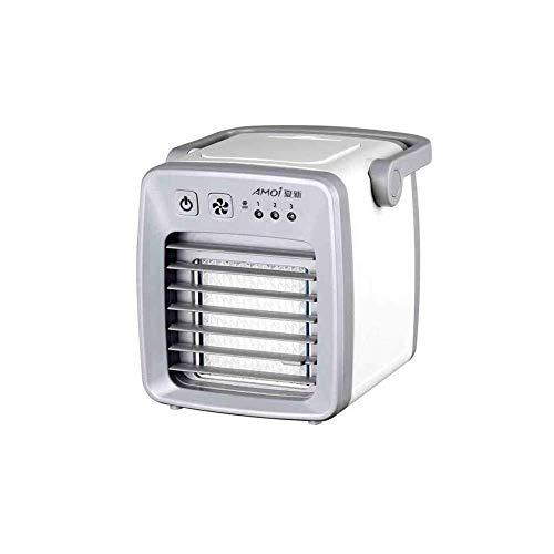 LIANGANAN USB Fan, Ventilador de escritorio de humectación de ventilador de refrigeración, Portátil residencia de estudiantes mini pequeño de agua del acondicionador de aire del USB (Color: A, Tamaño: