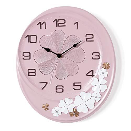 Everyday home Créatif Décoratif Horloge Murale Résine Silencieuse Facile à lire Conception Numérique Rose Mouvement Silencieux Balayage Coeur Européen Maison Art Atmosphère Horloge À Quartz
