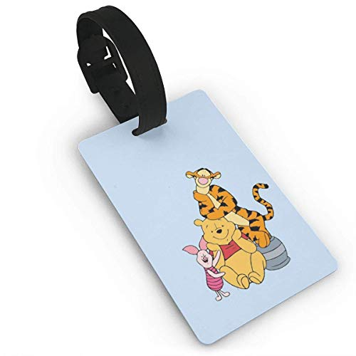 Pooh and Piglet Luggage Tag Adjustable Strap Bag Baggage Name,Accessories Tags for Tourists