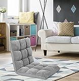 Chic Home Iconic Home Daphene Adjustable Recliner Rocker Memory Foam Armless Floor Gaming Ergonomic Chair, Grey (FRC2743-AN)
