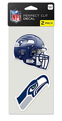 NFL Seattle Seahawks 47584012 Perfect Cut Aufkleber (2 Stück), 10,2 x 10,2 cm