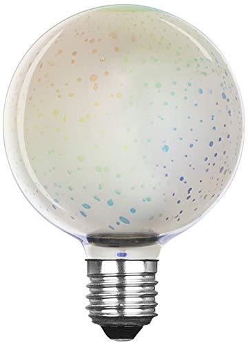 Xqlite LSO-04091 LED-Leuchtmittel mit 3D-Feuerwerk-Effekt als Dekorationsbeleuchtung, Glas, E27, 3.5 W, Transparent, 14.2 x 9.8 x 9.8 cm