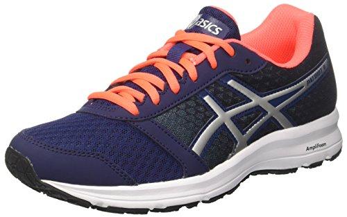 Asics Patriot 9, Zapatillas de Running Mujer, Azul (Indigo Blue/Silver/Flash Coral 4993), 44.5 EU