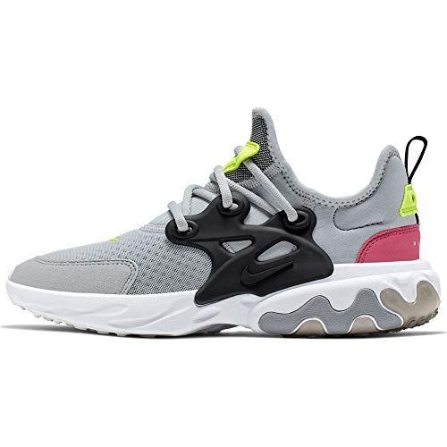Nike React Presto (GS), Zapatillas de Atletismo para Niños, Multicolor (Wolf Grey/Black/Rush Pink/Volt 4), 36 EU