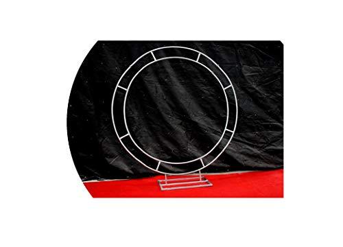 Accesorios de boda, marco de anillo artístico de hierro, arco circular, portón de flores, decoración de fondo de la boda, disposición de fondo de escenario, 1,2 m., 1,2 m