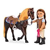 Our Generation by Battat- Thoroughbred 20' Posable Horse for 18 inch Dolls- Toy Horse, Dolls, Clothes & Accessories for Girls 3 Years & Up
