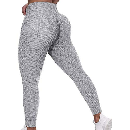 Leggins Push Up Mujer Baratos Color sólido Elásticos Polainas de Yoga Fitness Sin Costura Mallas Deportivas Mujer para Reducir Vientre