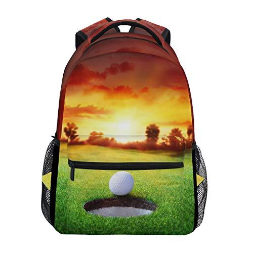 WXLIFE Sunset Sky Sport Golf Ball Backpack Travel School Shoulder Bag for Kids Boys Girls Women Men