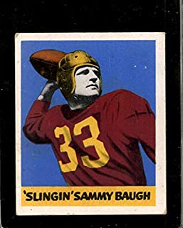 1948 LEAF #34 SAMMY BAUGH VG+ RC ROOKIE REDSKINS HOF
