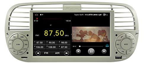 Sunshine Fly 6.2 pouces Android 8.0 Quad core 1024 * 600 Écran tactile 2 DIN de voiture DVD GPS Radio Stéréo Pour FIAT 500 SWC Soutien Bleu
