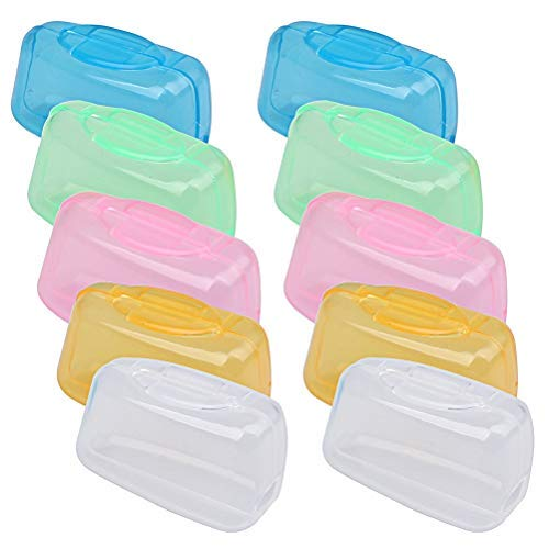 Kuou - Set di 10 copri-spazzolini da denti, portatili, da viaggio e da campeggio