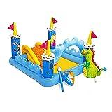 Bañeras con jacuzzi Piscina Inflable Gran Centro De Entretenimiento Al Aire Libre Piscina Infantil En El Patio para Varias Personas (Color : Blue, Size : 182 * 152 * 106cm)