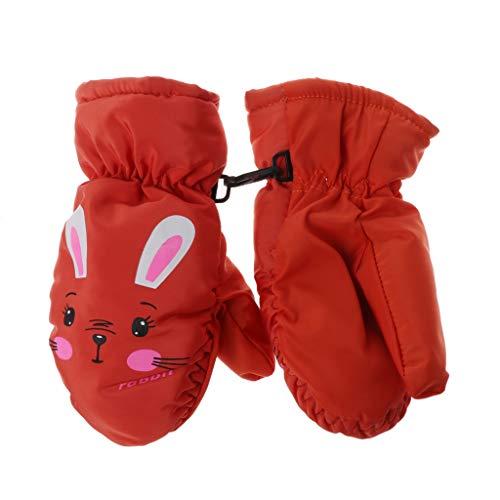 QERMULA Kids Winter Warm Handschoenen Winddicht Voor Kinderen Jongens Meisjes Ski Fietsen Klimmen Outdoor Handschoenen Waterdichte Handschoenen Oranje
