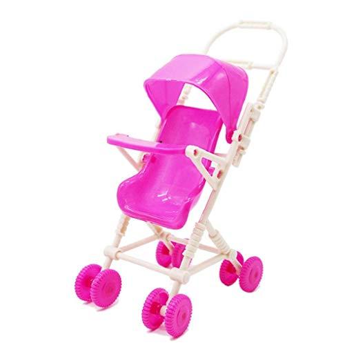 1pc Plástico Cochecito De Bebé Casa De Muñeca De Juguete De La Carretilla del Cochecito De Niño Tiny Accesorios De Muñecas De Juguete para Niñas