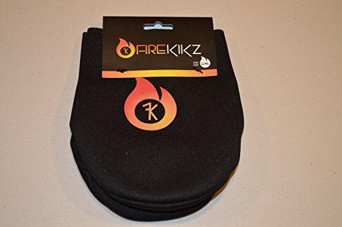 FIREKIKZ Toe and Foot Warmer for Football Cleats, Lacrosse Cleats, Baseball Cleats, Soccer Cleats, and Cycling Shoes or Boots (S/M) Black
