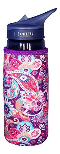 Koverz Neoprene 24-30 oz Water Bottle Insulator Cooler Coolie - Paisley