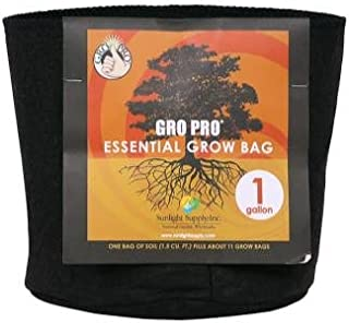 Gro Pro Essential Round Fabric Pot, 1 gal
