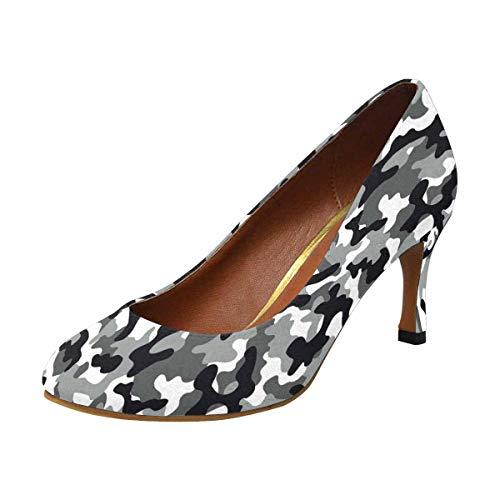 INTERESTPRINT High Heel, Formal, Wedding, Party Simple Classic Dress Pump Camo Pattern 7 B(M) US