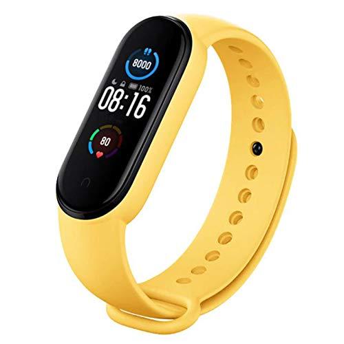 Xiaomi Mi Band 5 SFL Colourways Fitness Tracker 5ATM Seguimiento de sueño impermeable Monitor de ritmo cardíaco Modo de natación NUEVO 2021 (naranja)