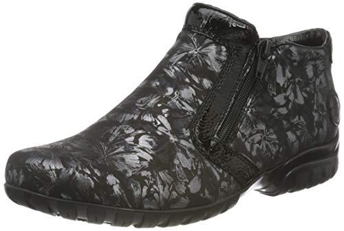 Rieker Damen L4660 Mode-Stiefel, schwarz Kombi, 39 EU