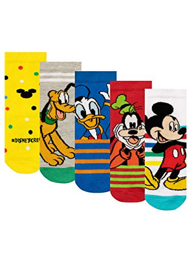 Disney Calcetines Paquete de 5 para Niños Mickey Mouse Multicolor 20-23