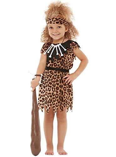 Funidelia | Costumi Cavernicola per Bambina e Bambino Taglia 7-9 Anni ▶ Troglodita, età della Pietra, Uomo preistorico, Preistorica - Marroni