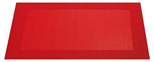 ASA 78075076 Set de Table Bordé, Matériel Synthétique, Rouge, 9x12x16 cm