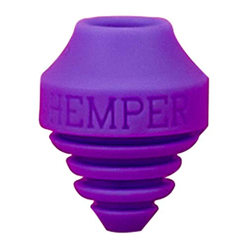 HEMPER A-Dab-TER | Silicone Vape Pen Adapter for Water Pipes | Round & Flat Tips (Purple)