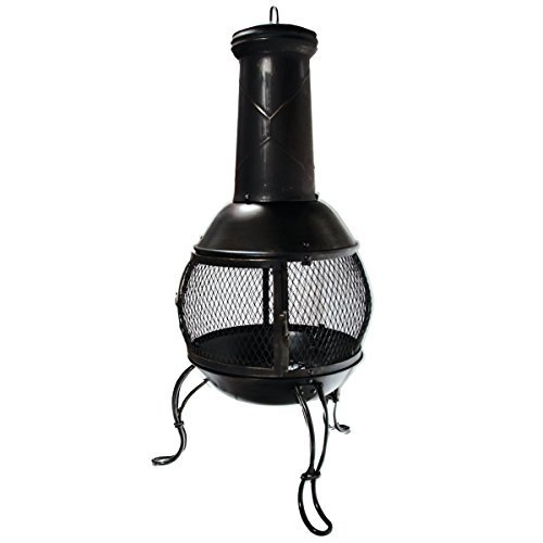KCT Classical Chiminea Outdoor Garden Patio Heater Log Burner for BBQs Camping