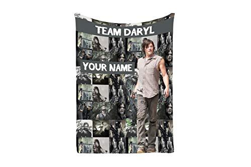 Daryl Dixon Walking Dead AMC Faux Fur Cashmere Fleece Blanket Throw