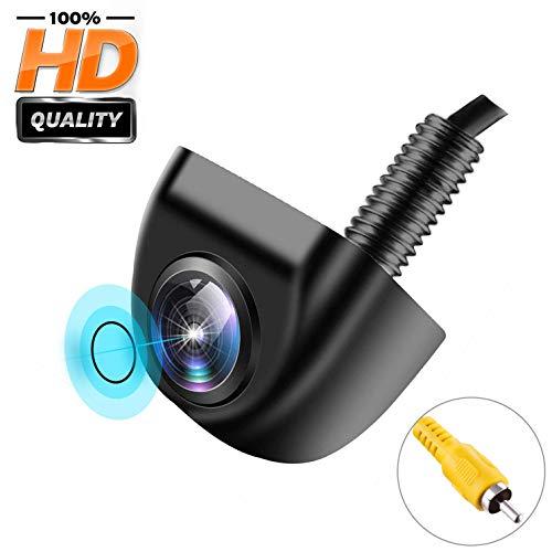 Backup Camera for Car, IP 69K Waterproof Rear View Camera 170° Super Wide Angle Vehicle Reverse Camera HD Night Vision Universal Car Camera for Truck SUV RV Van (Black)