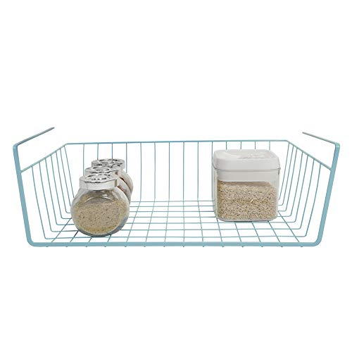 Smart Design Undershelf Storage Basket - Snug Fit Arms - Steel...