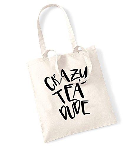 Crazy Tea Dude Tragetasche Gr. One size, natur