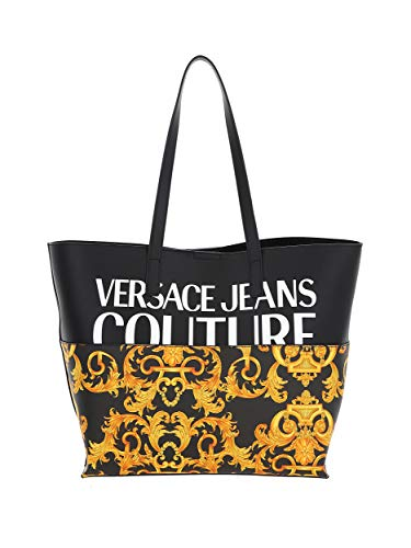 Shopper with baroque print with shoulder handles. Bo