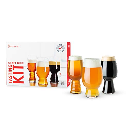 Spiegelau Craft Beer Tasting Kit Glasses, Set of 3, European-Made...