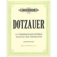 輸入楽譜/チェロ/ドッツァウアー:113の練習曲集 4(No.86-113)