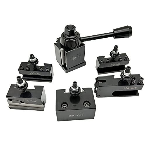 Holder, 6 piezas 250 tipo Cuniforme, juego de herramientas de cambio rápido con oscilación de torno de 6 a 9 pulgadas