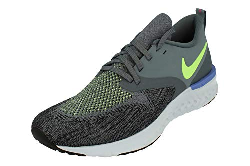 Nike Odyssey React Flyknit 2 Men's Running Shoe Armory Blue/Lime Blast-Black-Sapphire 11.0