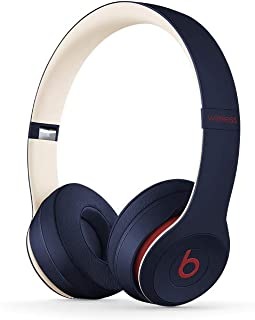 Beats Solo3 Wireless On-Ear Headphones - Apple W1 Headphone Chip, Class 1 Bluetooth, 40 Hours Of Listening Time - Club Navy (Latest Model)
