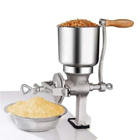 Hand Crank Grain Mill, Table Clamp Manual Corn Grain Grinder Cast Iron Mill Grinder for Grinding Nut...