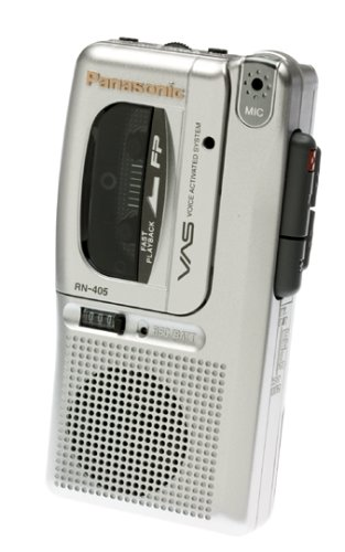 Panasonic RN4053 Micro Cassette Recorder with Voice Activation System and Tape Counter