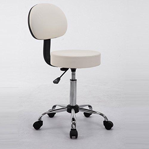 Dreh- & Arbeitshocker Stühle Büromöbel Lift Hocker Beauty Hocker Therapie Massage Hocker Nail Stühle Office Hocker (Color : Weiß, Size : 35 * 9 * 52cm)