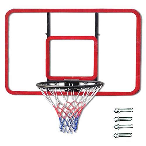 LOVEHOUGE Soporte De Baloncesto Montaje En Pared Aro De Baloncesto Duradero Tablero De Baloncesto Transparente para Niños Jóvenes Adultos 47X31.5 Pulgadas